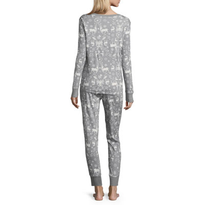 North Pole Trading Co. Womens-Talls Pant Pajama Set Long Sleeve Family