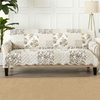Patchwork Scalloped Printed Sofa Protector
