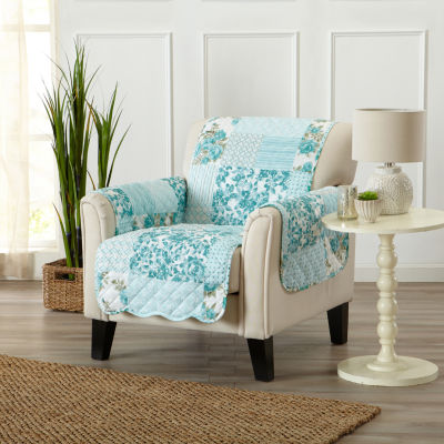 Patchwork Scalloped Printed Chair Protector