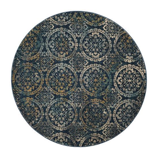 Safavieh Lincoln Damask Round Rugs