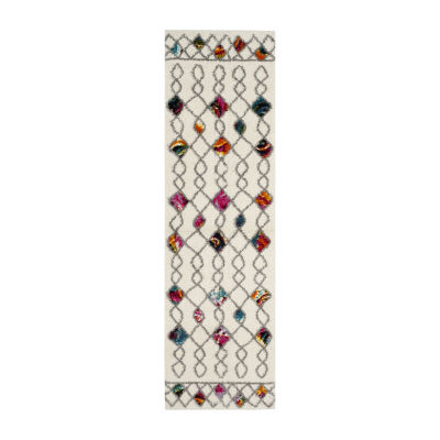 Safavieh Lucinda Geometric Shag Rectangular Runner