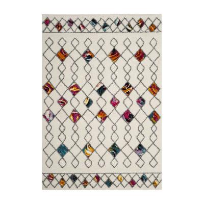 Safavieh Lucinda Geometric Shag Rectangular Rugs