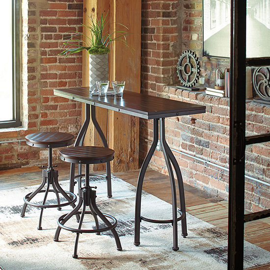 Signature Design by Ashley® Hilton Set of 2 Counter Height Upholstered Barstools