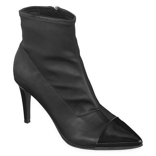 Liz Claiborne Womens Kanika Stiletto Heel Zip Bootie