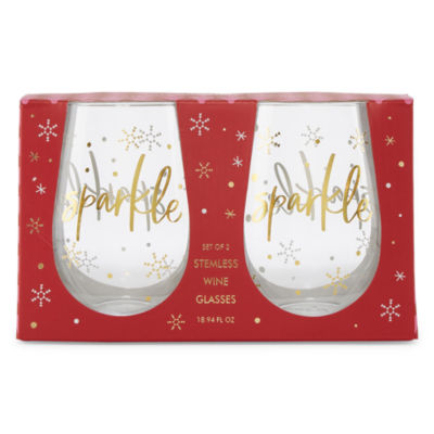 Mixit Stemless 2-pc. Wine Glass Set