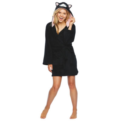 Pj Couture Robes Galore Womens-Juniors Plush Robe Long Sleeve Mid Length