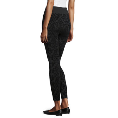 Mixit Fleece Lined Flocked Womens Slim Legging