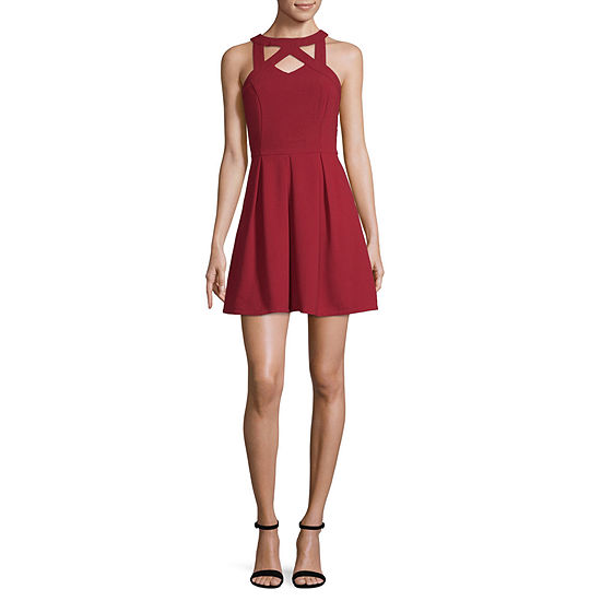 Speechless-Juniors Sleeveless Fit & Flare Dress