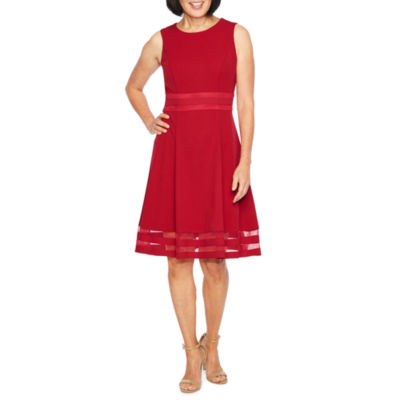 Liz Claiborne Sleeveless Fit & Flare Dress