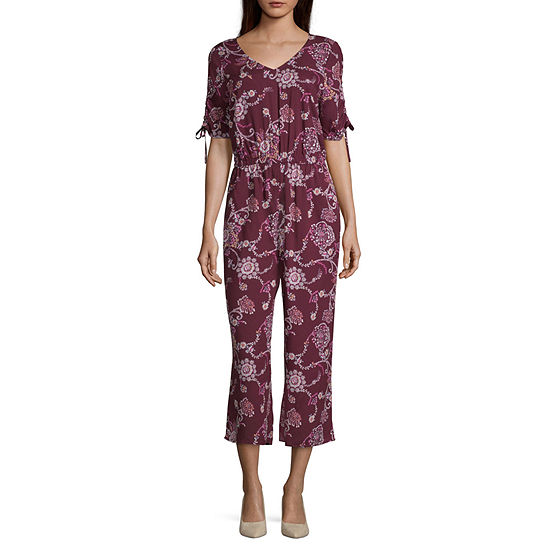 a.n.a Ruched Sleeve Cropped Jumpsuit - Tall