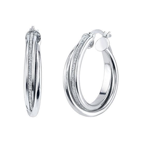 Sterling Silver 25mm Hoop Earrings