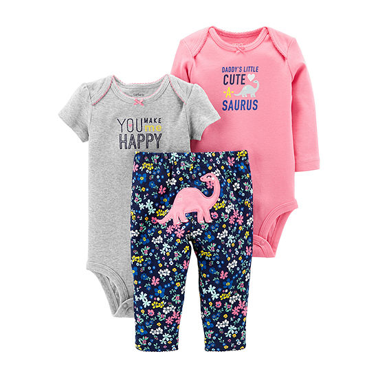 b198ba361018 Carter s Little Baby Basics 3-pc. Layette Set - Girl - JCPenney