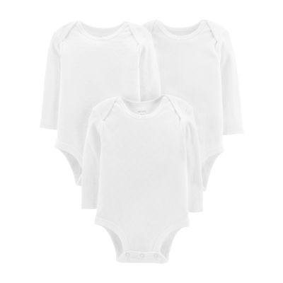 Carter's Little Baby Basics Textured 3-pk. Bodysuits - Baby Girls