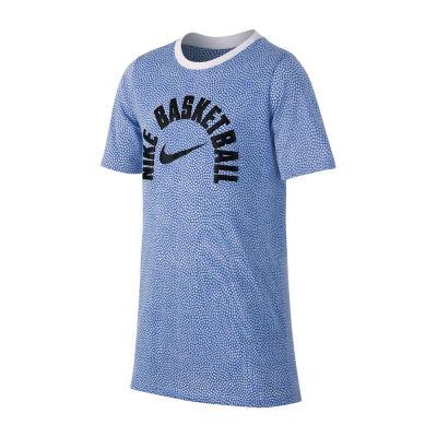 Nike Boys Crew Neck Short Sleeve Dri-Fit Graphic T-Shirt-Big Kid