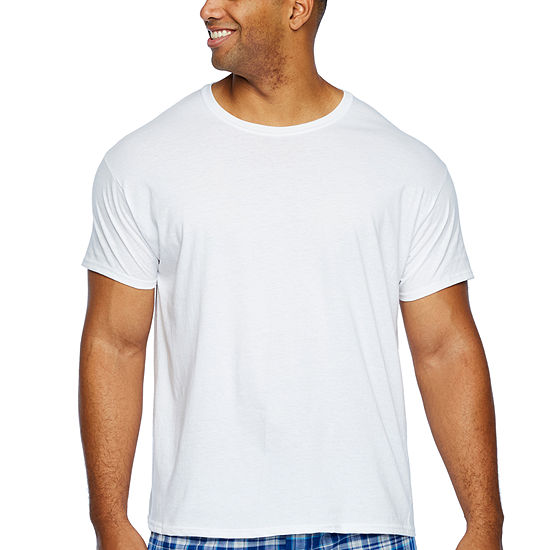 Hanes 4 Pack Short Sleeve Crew Neck T-Shirt-Big