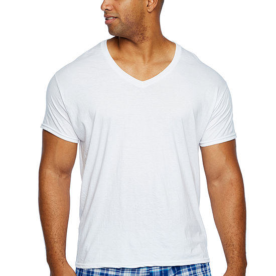 100062e5 Hanes 4-pc. Short Sleeve V Neck T-Shirt-Big - JCPenney