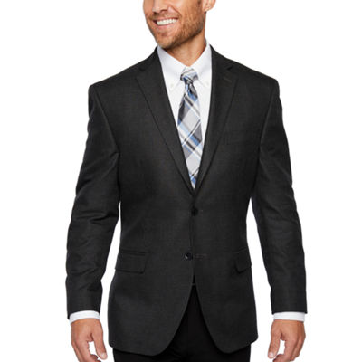 Collection by Michael Strahan Black and Gray Houndstooth Classic Fit Sport Coat