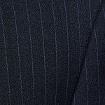 Collection by Michael Strahan  Blue Striped Classic Fit Suit Jacket