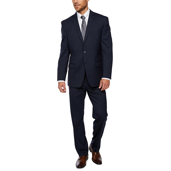 Collection by Michael Strahan  Blue Stripe Classic Fit Suit Jacket