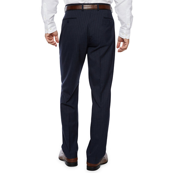 Collection by Michael Strahan  Blue Stripe Classic Fit Stretch Suit Pants