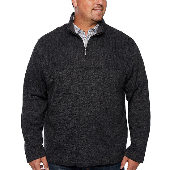 Van Heusen - Big and Tall Long Sleeve Pullover Sweater