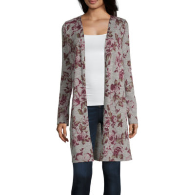 by&by Long Sleeve Cardigan-Juniors