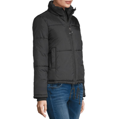 Arizona Vinyl Heavyweight Puffer Jacket-Juniors