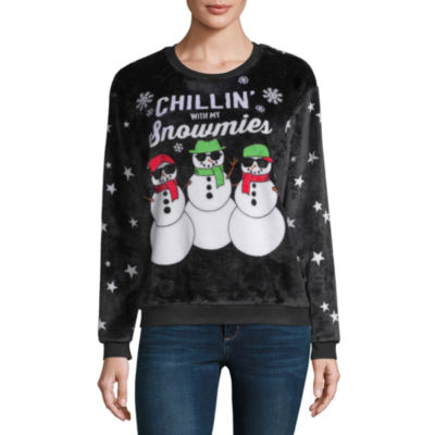 City Streets Ugly Christmas Sweater Long Sleeve Sweatshirt-Juniors