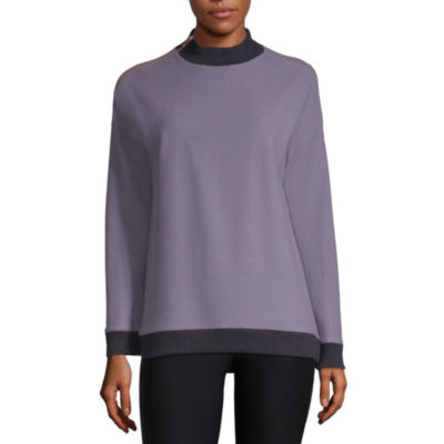 Xersion Ribbed Collar Fleece Sweatshirt