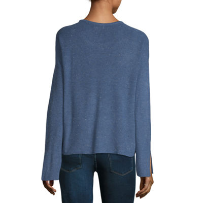 a.n.a Long Sleeve Scoop Neck Pullover Sweater