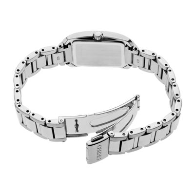 Seiko Womens Silver Tone Bracelet Watch-Sup401