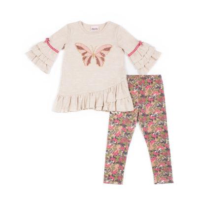 Little Lass 2-pc Butterfly Legging Set-Baby Girls