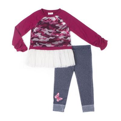 Little Lass Not Applicable 2-pc. Legging Set-Baby Girls