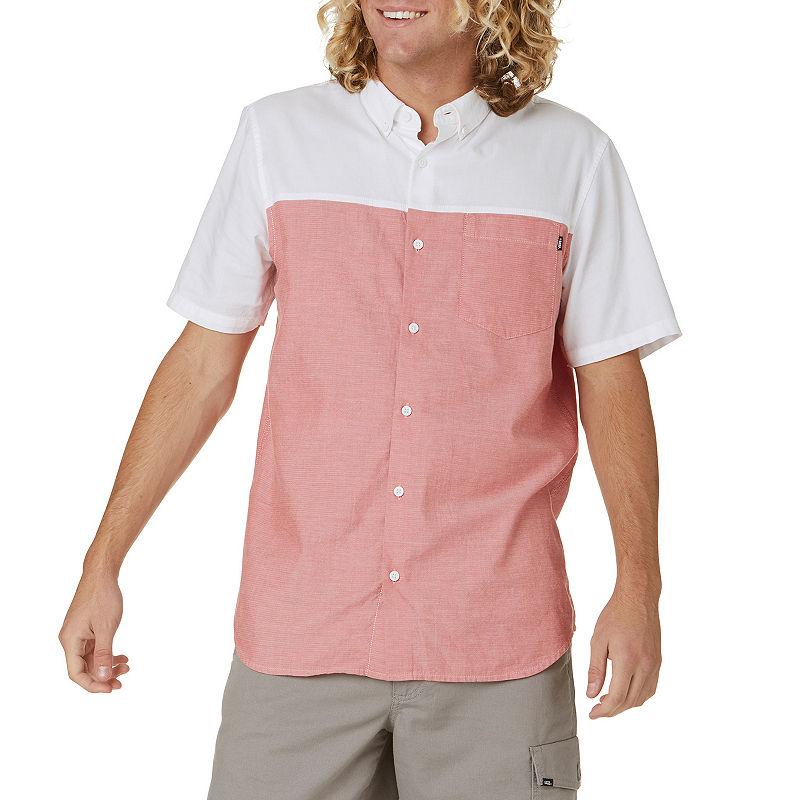 80s Men's Clothing | Shirts, Jeans, Jackets for Guys Vans Mens Short Sleeve Button-Front Shirt Size X-large Black $9.59 AT vintagedancer.com