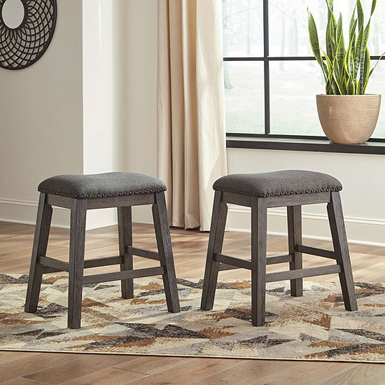 Signature Design by Ashley® Caitbrook Set of 2 Counter Height Upholstered Stools