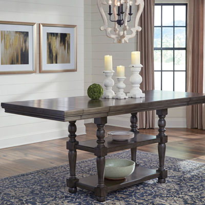 Signature Design by Ashley® Audberry Counter Height Dining Table with Drop-In Leaf