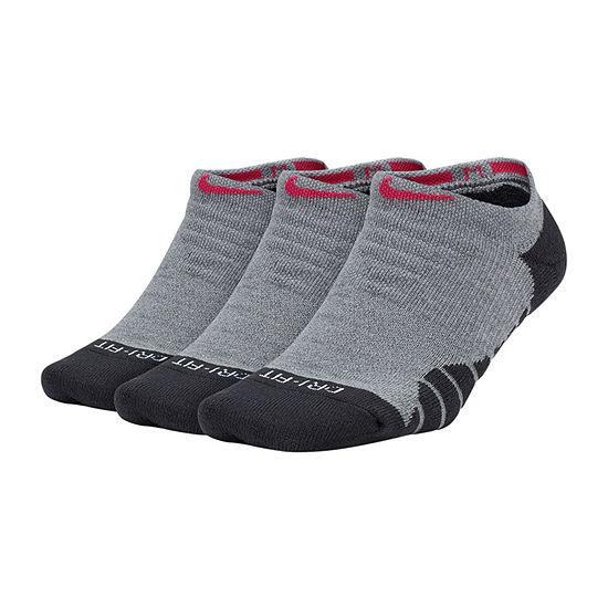 Nike Dry 3 Pair No Show Socks Womens