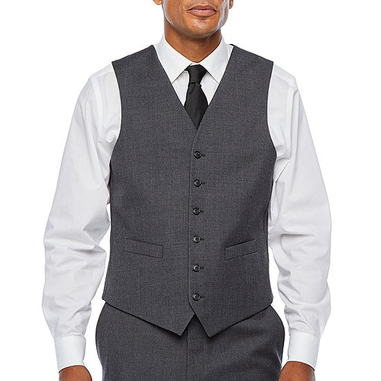 Stafford Travel Stretch Mens Striped Classic Fit Suit Vest - Big and Tall