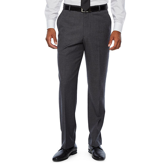 Stafford - Big and Tall Travel Striped Stretch Suit Pants