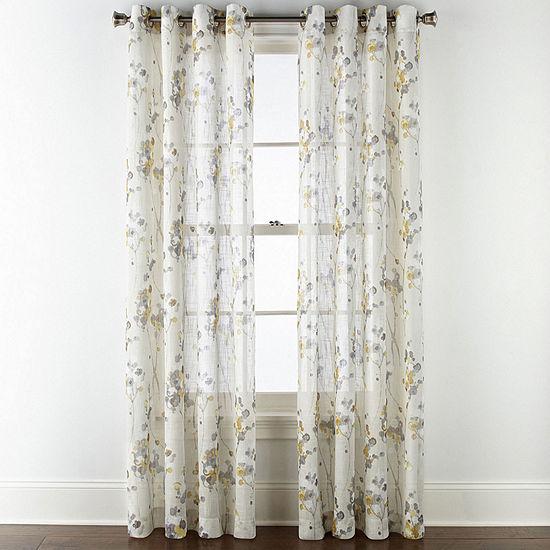 JCPenney Home Caspian Grommet- Top Curtain Panel