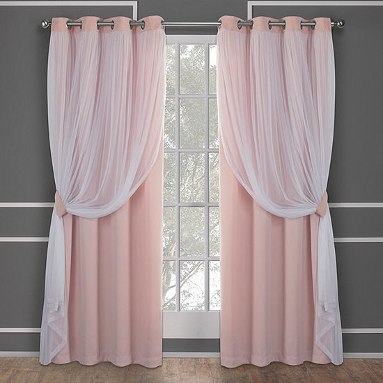 Catarina Energy Saving Blackout Grommet-Top Set of 2 Curtain Panel