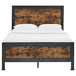 Industrial Wood and Metal Bed