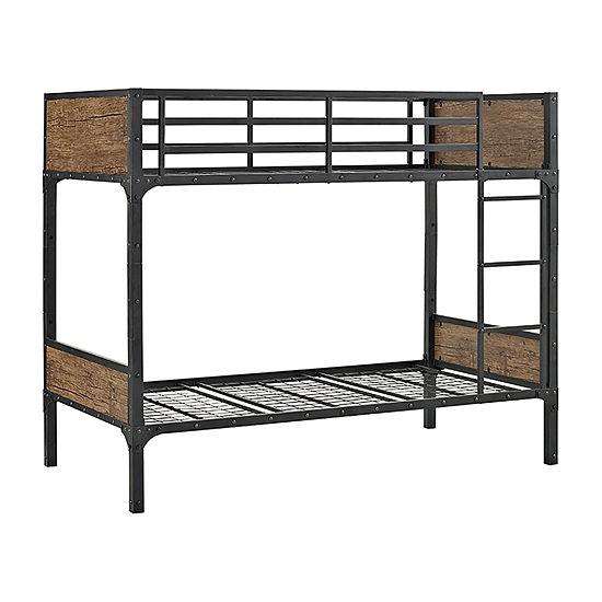 Rustic Wood Bunk Bed