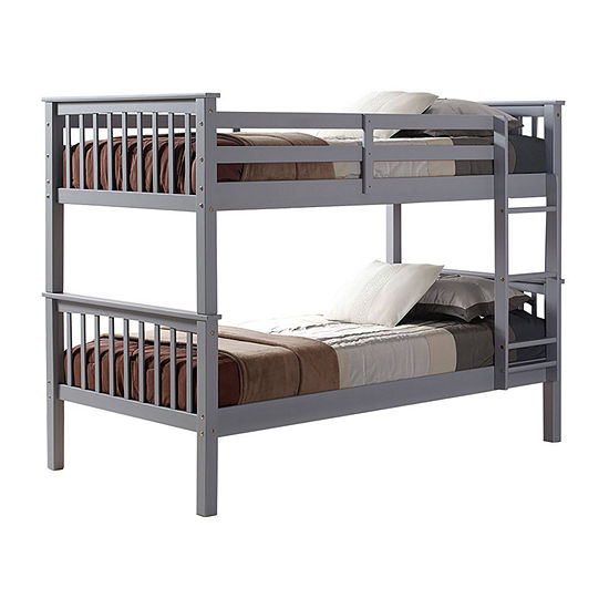 Solid Wood Mission Design Bunk Bed