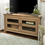 "44"" Wood Corner TV Media Stand Storage Console"