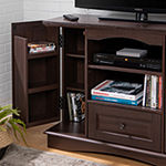 "42"" Highboy Wood TV Media Stand Storage Console"