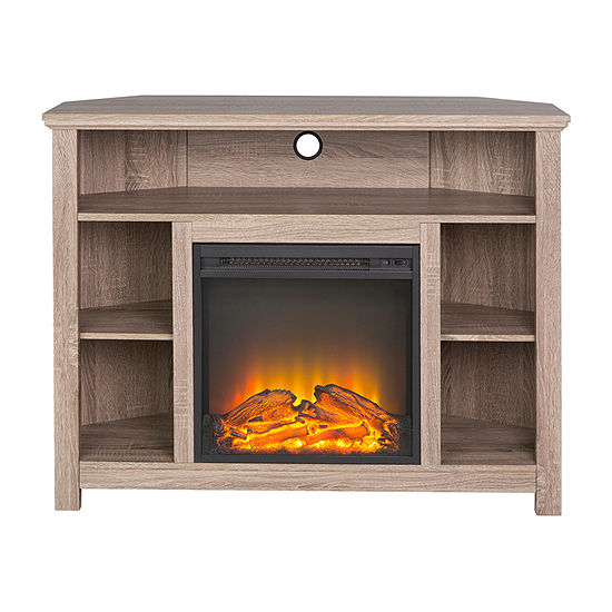 "44"" Wood Corner Highboy Fireplace TV Stand"""