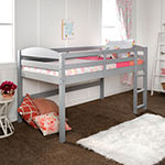 Solid Wood Low Loft Twin Bed
