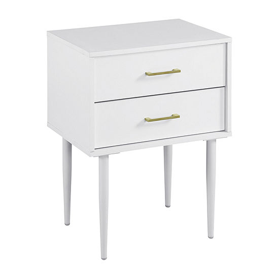 Olivia Two-Drawer Side Table