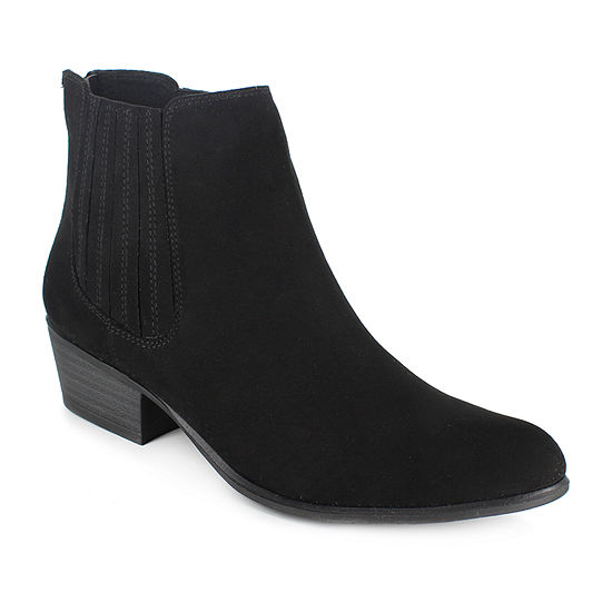 Unionbay Womens Madison Chelsea Boots Stacked Heel